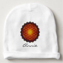 Flower Of Life - Apophysis Mandala I + your ideas Baby Beanie
