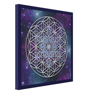 FLOWER OF LIFE - Archangel Metatron Cube Canvas Print