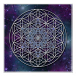 FLOWER OF LIFE - Archangel Metatron Cube Poster