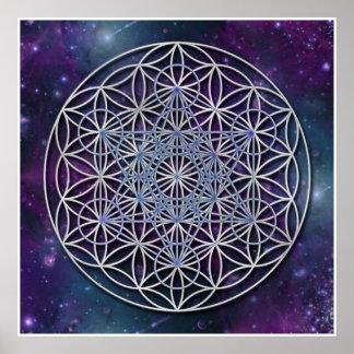 FLOWER OF LIFE - Archangel Metatron Cube Poster