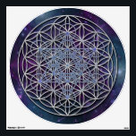 """FLOWER OF LIFE - Archangel Metatron Cube Wall Decal<br><div class=""""desc"""">Spiritual and Archangel Metatron Symbol ART by EDDA Fr&#246;hlich 