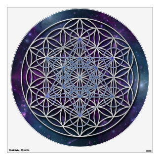 FLOWER OF LIFE - Archangel Metatron Cube Wall Decal