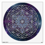 FLOWER OF LIFE - Archangel Metatron Cube Room Sticker