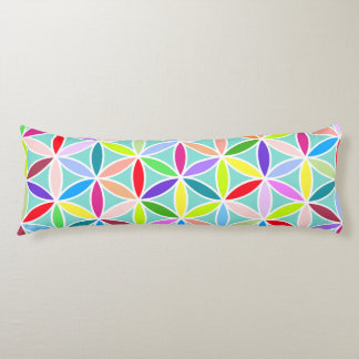 Flower of Life Big Pattern – Multicoloured Body Pillow