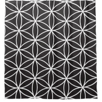 Curtains Ideas black shower curtain with white flower : Flower Of Life Shower Curtains | Zazzle