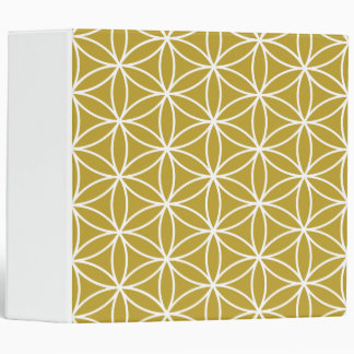 Flower of Life Big Pattern White on Gold Binder
