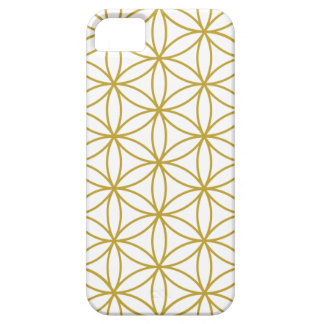 Flower of Life Big Ptn Gold on White iPhone SE/5/5s Case