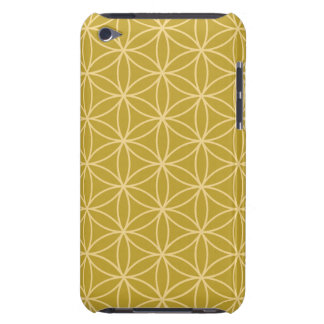 Flower of Life Big Ptn Light Gold on Gold Barely There iPod Cover