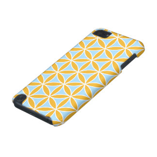 Flower of Life Big Ptn Orange White & Blue iPod Touch (5th Generation) Cover