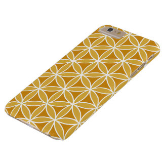 Flower of Life Big Ptn Oranges & White Barely There iPhone 6 Plus Case