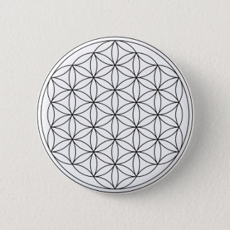 Flower of Life (Black and White) Button