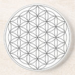 Flower of Life (Black and White) Drink Coaster