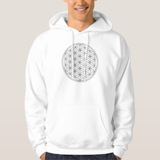 Flower of Life (Black and White) Front and Back Hoodie