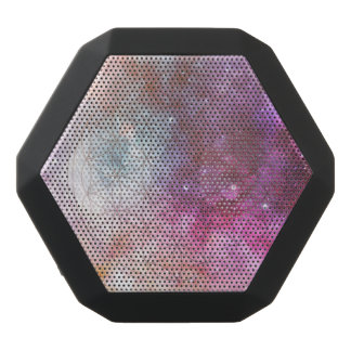 Flower of life black bluetooth speaker
