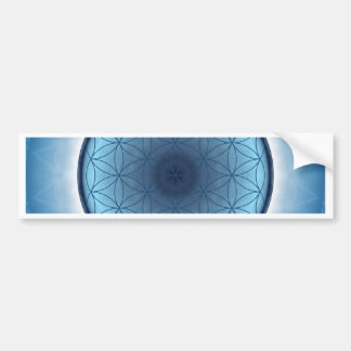 flower of life blue created by Tutti Bumper Sticker