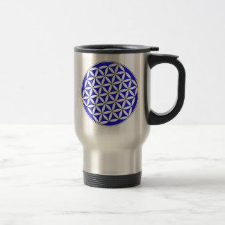 Flower of Life Blue Coffee Mug