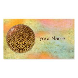 Flower Of Life / Blume des Lebens - ball grid gold Business Card