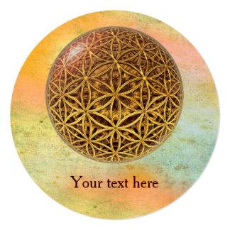 Flower Of Life / Blume des Lebens - ball grid gold Card