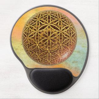 Flower Of Life / Blume des Lebens - ball grid gold Gel Mouse Pad