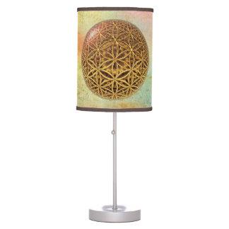 Flower Of Life / Blume des Lebens - ball grid gold Table Lamps
