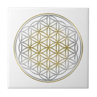 FLOWER OF LIFE / Blume des Lebens - BiColor Ceramic Tile