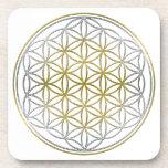 FLOWER OF LIFE / Blume des Lebens - BiColor Coaster