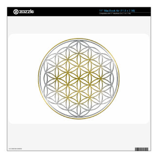 FLOWER OF LIFE / Blume des Lebens - BiColor MacBook Air Decal