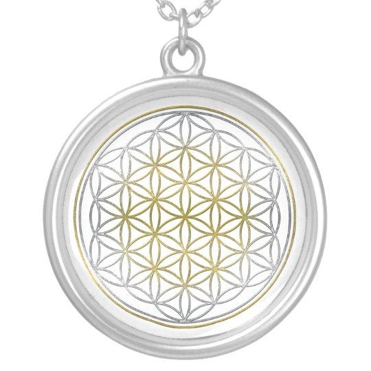 FLOWER OF LIFE / Blume des Lebens - BiColor Silver Plated Necklace