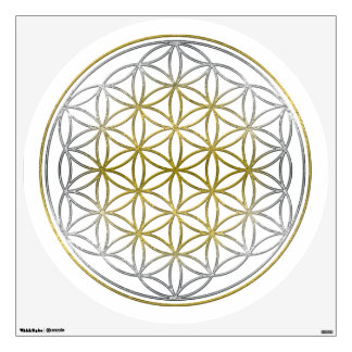FLOWER OF LIFE Blume des Lebens - BiColor Wall Decal
