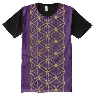 Flower Of Life / Blume des Lebens - Border gold All-Over-Print Shirt