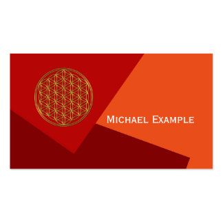 Flower Of Life / Blume des Lebens - brilliant gold Double-Sided Standard Business Cards (Pack Of 100)