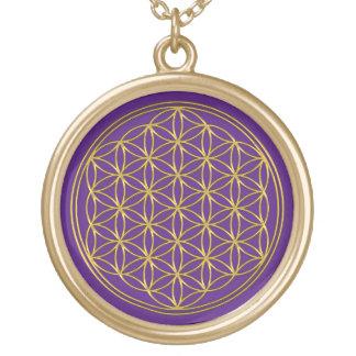 Flower Of Life / Blume des Lebens - brilliant gold Gold Plated Necklace