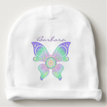 Flower Of Life / Blume des Lebens - butterfly Baby Beanie