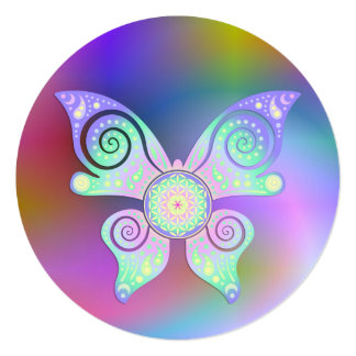 Flower of Life / Blume des Lebens - butterfly Card
