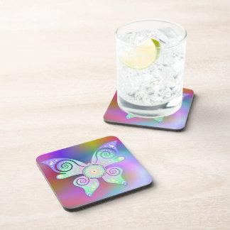 Flower of Life / Blume des Lebens - butterfly Drink Coaster