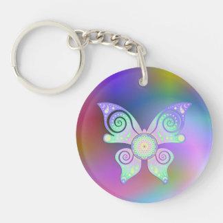 Flower of Life / Blume des Lebens - butterfly Keychain