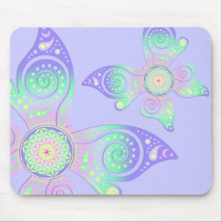 Flower of Life / Blume des Lebens - butterfly Mouse Pad