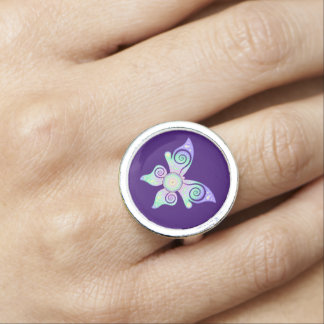 Flower of Life / Blume des Lebens - butterfly Photo Ring
