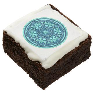 Flower Of Life / Blume des Lebens - Button I Chocolate Brownie
