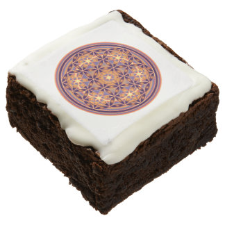 Flower Of Life / Blume des Lebens - Button II Chocolate Brownie