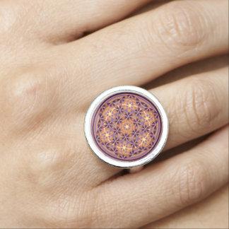 Flower Of Life / Blume des Lebens - Button II Ring