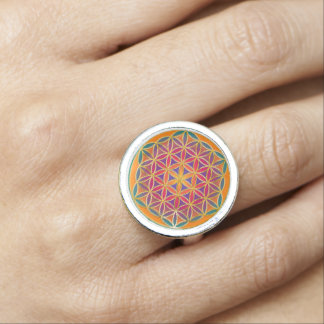 Flower Of Life / Blume des Lebens - Button III Rings