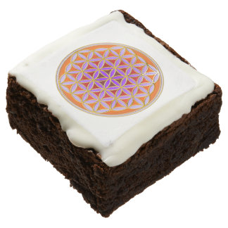 Flower Of Life / Blume des Lebens - Button IV Chocolate Brownie