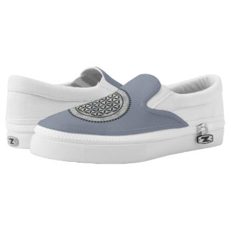 Flower of Life / Blume des Lebens - Button IX Slip-On Sneakers