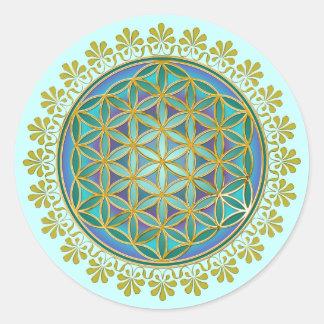 Flower Of Life / Blume des Lebens - Button V Classic Round Sticker