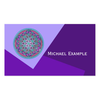 Flower Of Life / Blume des Lebens - Button VI Double-Sided Standard Business Cards (Pack Of 100)