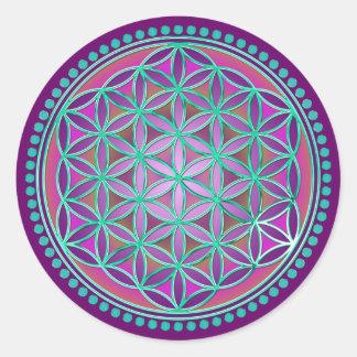 Flower Of Life / Blume des Lebens - Button VI Classic Round Sticker