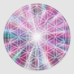 Flower Of Life / Blume des Lebens - Button VII Classic Round Sticker