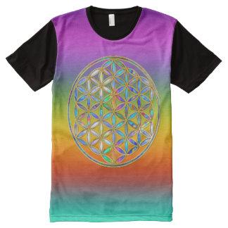 Flower Of Life / Blume des Lebens - colorful shine All-Over Print T-shirt