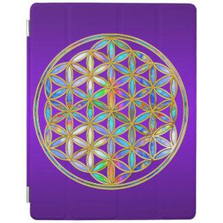 Flower Of Life / Blume des Lebens - colorful shine iPad Smart Cover